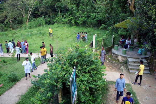 ভোটকেন্দ্র ফাঁকা থাকলেও জাতীয় উদ্যানে দর্শনার্থীদের ভিড়